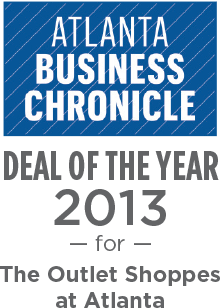 Atlanta Business Chronicle Deal of the Year 2013 for The Outlet Shoppes at Atlanta
